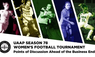 Tiebreaker Times UAAP Women's Football Tournament: Points of Discussion Ahead of the Business End ADMU DLSU FEU Football UAAP UP UST  UST Women's Football Team UP Women's Football Team UAAP Season 78 Women's Football UAAP Season 78 Sharmine Siaotong Sara Castaneda Let Dimzon Inna Palacios Hans-Peter Smit FEU Women's Football Team DLSU Women's Football Team Brigette Kadil Barbie Sobredo Anto Gonzales Alesa Dolino ADMU Women's Football Team