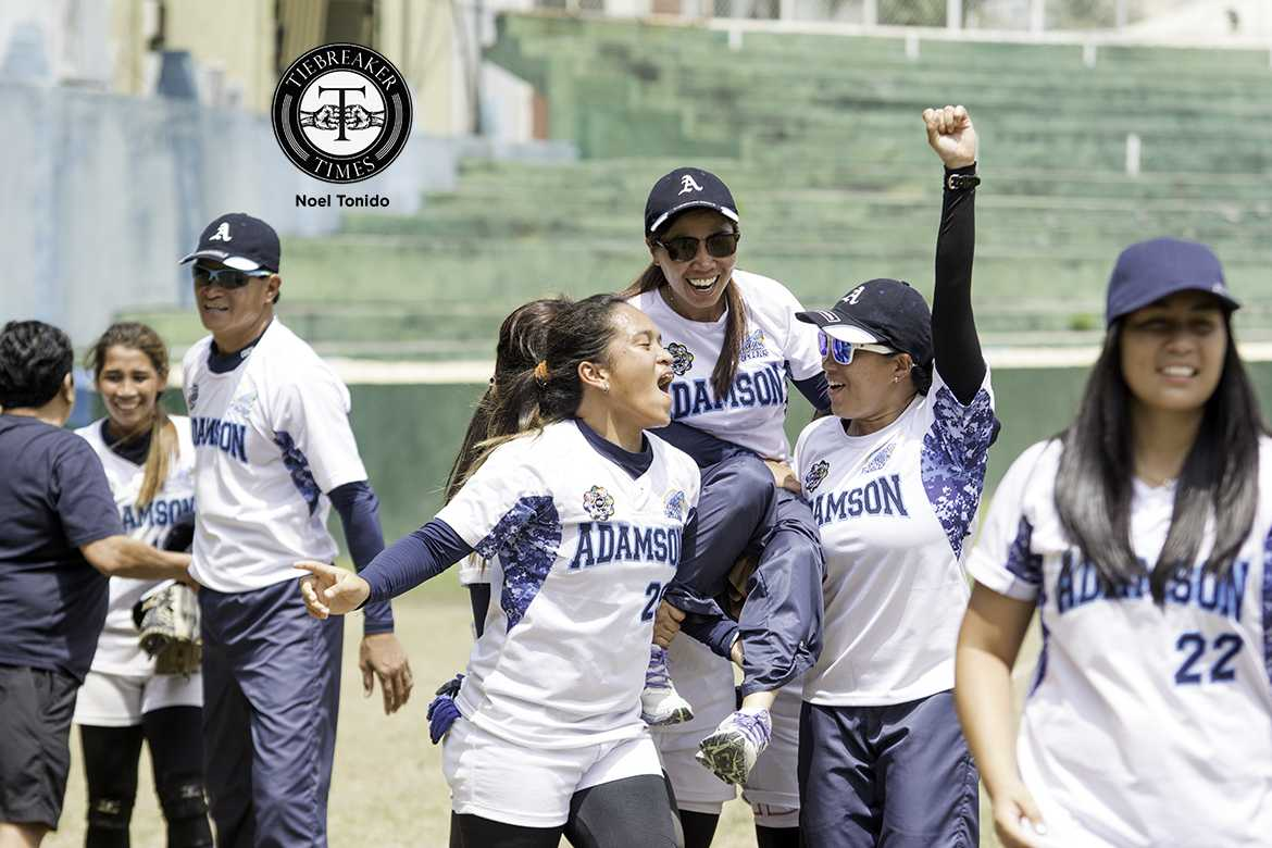 Tiebreaker Times A Fitting End: Benjamen, Sabobo punch in HRs, lift Adamson to 6th straight title AdU News Softball UAAP UST  UST Tiger Softbelles UAAP Season 78 Softball UAAP Season 78 Queeny Sabobo Precious Areglado Mary Louise Garde Lorna Adorable Krisna Paguican Hannah dela Torre Gelyn Lamata Annalie Benjamen Ann Antolihao Ana Santiago Adamson Softball