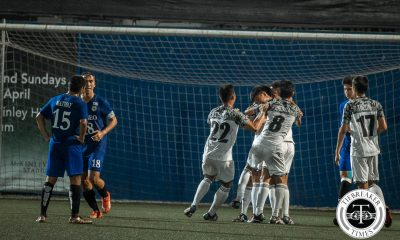 Tiebreaker Times UST continues great run, leaves Ateneo on the ropes ADMU Football News UAAP UST  Zaldy Abraham UST Men's Football Team UAAP Season 78 Men's Football Tournament UAAP Season 78 Mikko Mabanag Marjo Allado Lui Clavano Kenneth James Julian Roxas JP Merida Jarvey Ocampo Gayoso Darwin Busmion Ateneo Men's Football Team AJ Pasion