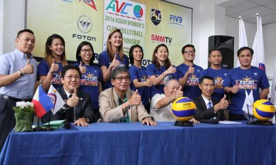 Tiebreaker Times PSL owners pledge full support to Foton Pilipinas' AVC campaign News PSL Volleyball  Royse Tubino Rhea Dimaculangan RC Cola Army Lady Troopers Rachel Anne Daquis Petron Tri-active Spikers Lindsay Stalzer Jovelyn Gonzaga Jen Reyes Jaja Santiago Foton Tornadoes F2 Logistics Cargo Movers EJ Laure Ariel Usher Angeli Araneta Alvin Lu Abigail Marano 2016 PSL Season 2016 AVC Asian Women's Club Championship