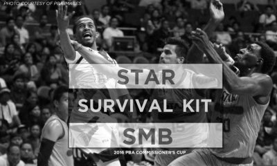 Tiebreaker Times 2016 PBA Comm's Cup QF – SMB vs. Star: Survival Kit Bandwagon Wire Basketball PBA  Star Hotshots San Miguel Beermen PBA Season 41 Leo Austria June Mar Fajardo Jason Webb Ian Sangalang Chris Ross Allein Maliksi 2016 PBA Commissioners Cup