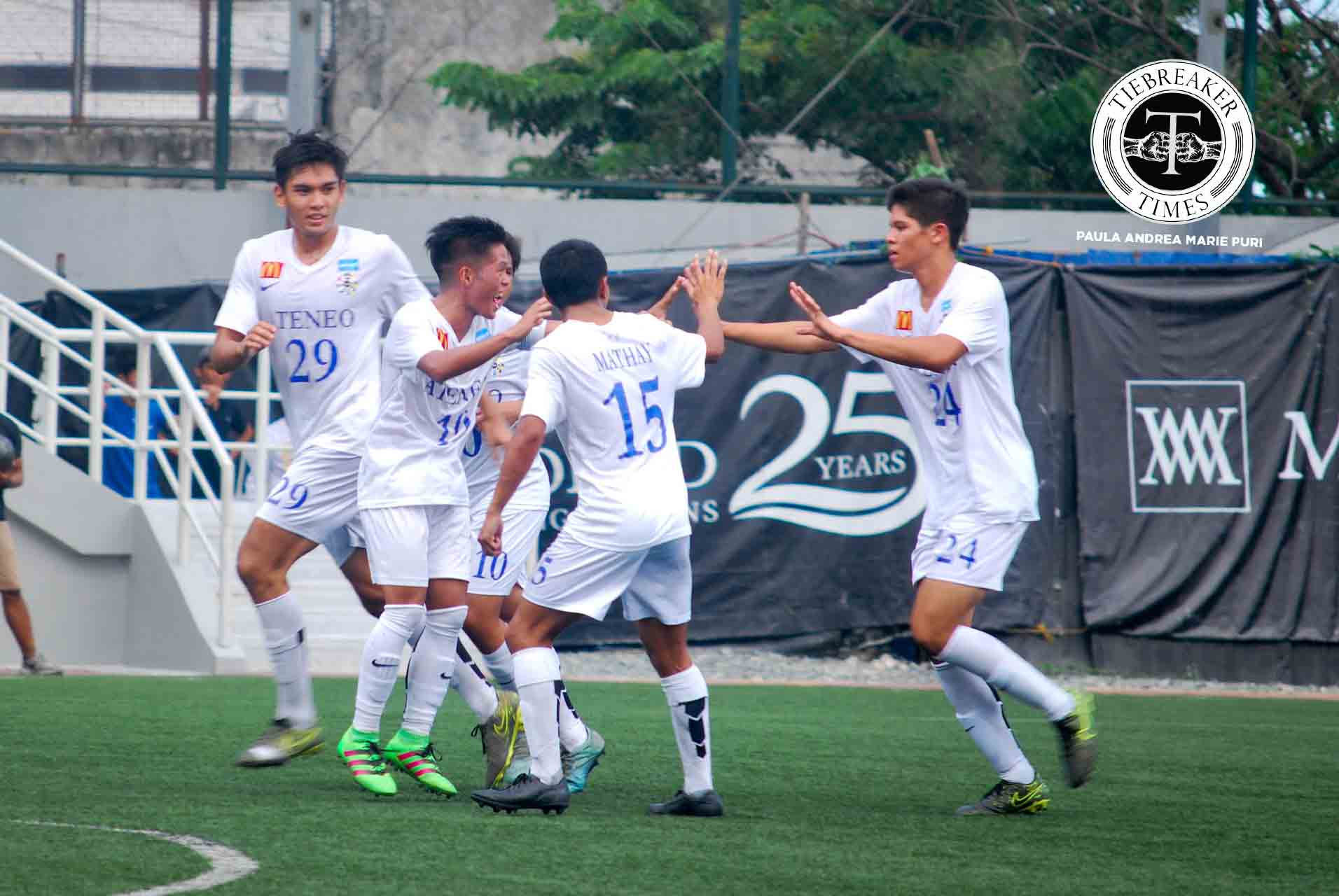 Tiebreaker Times Second-half performance the difference as Ateneo surges past UST ADMU Football News UAAP UST  Xavier Alcuaz UST Men's Football Team UAAP Season 78 Football UAAP Season 78 Rey Catalino Renz Gumban Mikko Mabanag Michael Castillo Mashu Yoshioka JP Oracion JP Merida Jarvey Ocampo Gayoso Emilio Acosta Alfredo Mathay AJ Pasion ADMU Men's Football Team