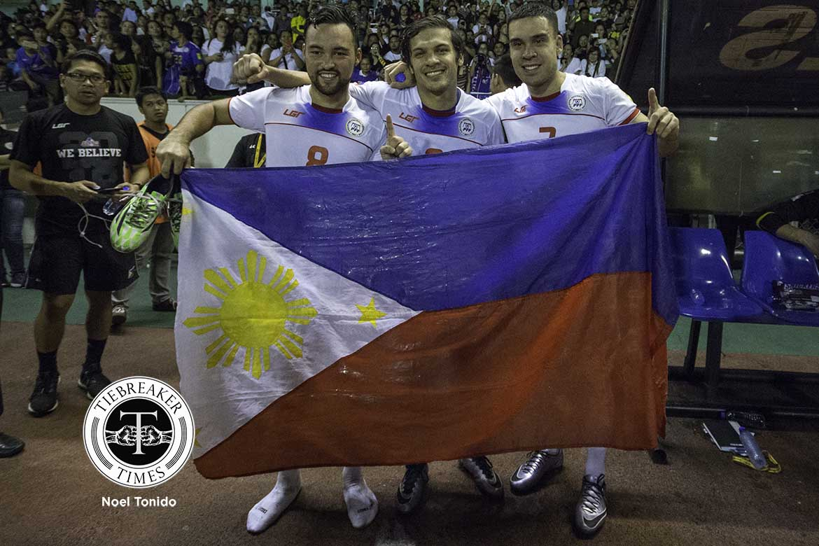 Tiebreaker Times The Azkals' Victory boosts morale for Ramsay AFC Cup Football News Philippine Azkals  Thomas Dooley Philippine National Football Team Philippine football Philippine Azkals North Kore Manny Ott Luke Woodland Juani Guirado Javier Patino Iain Ramsay 2018 FIFA World Cup Qualifiers 2016 AFC Cup