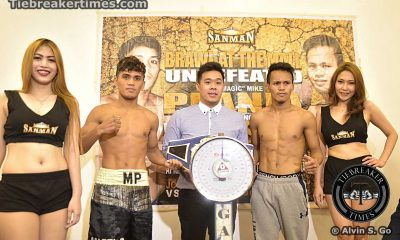 Tiebreaker Times SanMan Boxing Promotions hopes for successful first foray in Manila Boxing News  Roy Lagrada Raymart Gaballo Mike Angelo Plania Marlon Arcilla Lorence Rosas John Vincent Moralde Jimmy Aducal Jenel Lausa Brawl in the Mall
