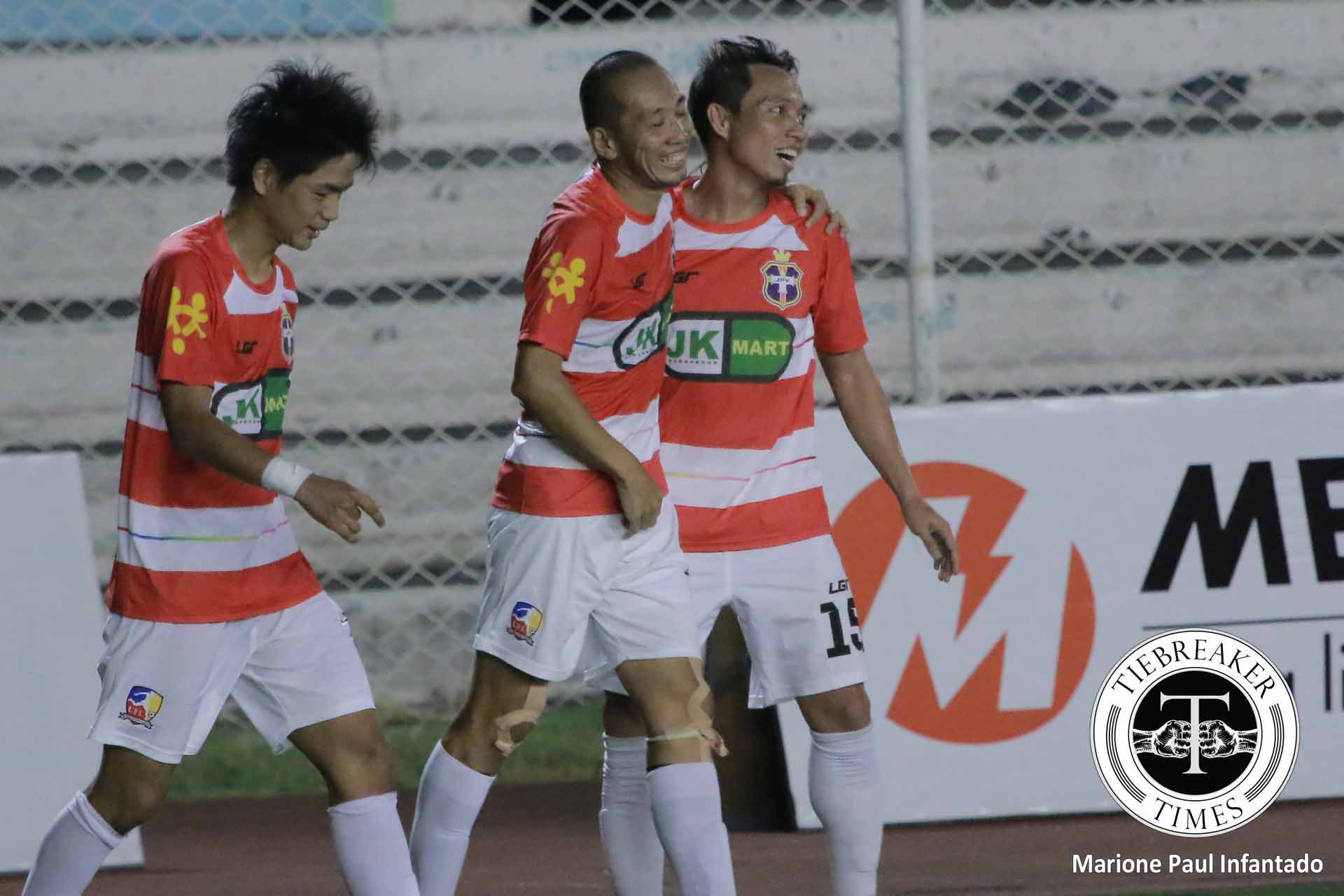 Tiebreaker Times JP Voltes topple Green Archers United in gritty UFL Cup-Plate semifinal clash Football News UFL  United Football League Philippines UFL Cup 2016 JP Voltes FC Green Archers United FC
