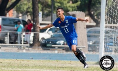 Tiebreaker Times Gayoso strike guides Ateneo in pivotal win against La Salle ADMU DLSU Football News UAAP  UAAP Season 78 Men's Football Tournament UAAP Season 78 Paeng De Guzman Nicko Villacin Masyu Yoshioka Kenneth James JP Merida Jojo Borromeo Jarvey Gayoso Hans-Peter Smit Greggy Yang Gelo Diamante DLSU Men's Football Team DLSU Football Carlo Liay Ateneo Men's Football Team