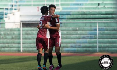 Tiebreaker Times Fighting Maroons return to the final after overpowering Growling Tigers News UAAP UP UST  Zaldy Abraham UAAP Season 78 Men's Football Tournament UAAP Season 78 Rvin Resuma Ronald Batisla-Ong Marjo Allado Kyle Magdato King Miyagi Daniel Gadia Anto Gonzales Ace Villanueva