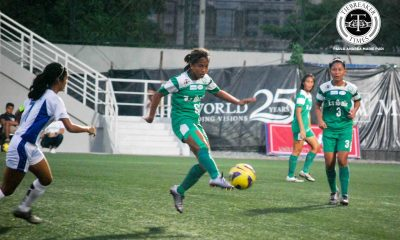 Tiebreaker Times Lady Archers draw closer to the final after edging Lady Eagles ADMU DLSU Football News UAAP  UAAP Season 78 Women's Football UAAP Season 78 Tessa Bernardo Shannon Arthur Sarah Castañeda Paulina Naguiat Nona Amoncio Mariane Caparros Kyra Dimaandal Kyla Inquig Irish Navaja Inna Palacios Hans-Peter Smit DLSU Women's Football Team Camille Rodriguez Bea Velasco ADMU Women's Football Team