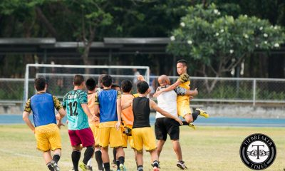 Tiebreaker Times Batisla-Ong brace enables UST win over NU News NU UAAP UST  Zaldy Abraham UST Men's Football Team UAAP Season 78 Men's Football Team UAAP Season 78 Ronald Batisla-Ong Renz Gumban Paolo Salenga NU Men's Football Team Nico Macapal Marjo Allado Lawrence Colina Francis Jay Abalunan Chris Perocho Chima Uzoka AJ Pasion