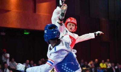 Tiebreaker Times The Road to Tokyo begins for Pauline Lopez News Taekwondo  Shanelle Romuar Pauline Lopez Keith Sembrano Eddtone Lumasac 2016 Asian Taekwondo Championships