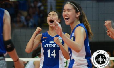 Tiebreaker Times De Leon after La Salle win: 'I haven't had this much fun playing in a while' ADMU News UAAP Volleyball  UAAP Season 78 Women's Volleyball UAAP Season 78 Bea De Leon Ateneo Women's Volleyball