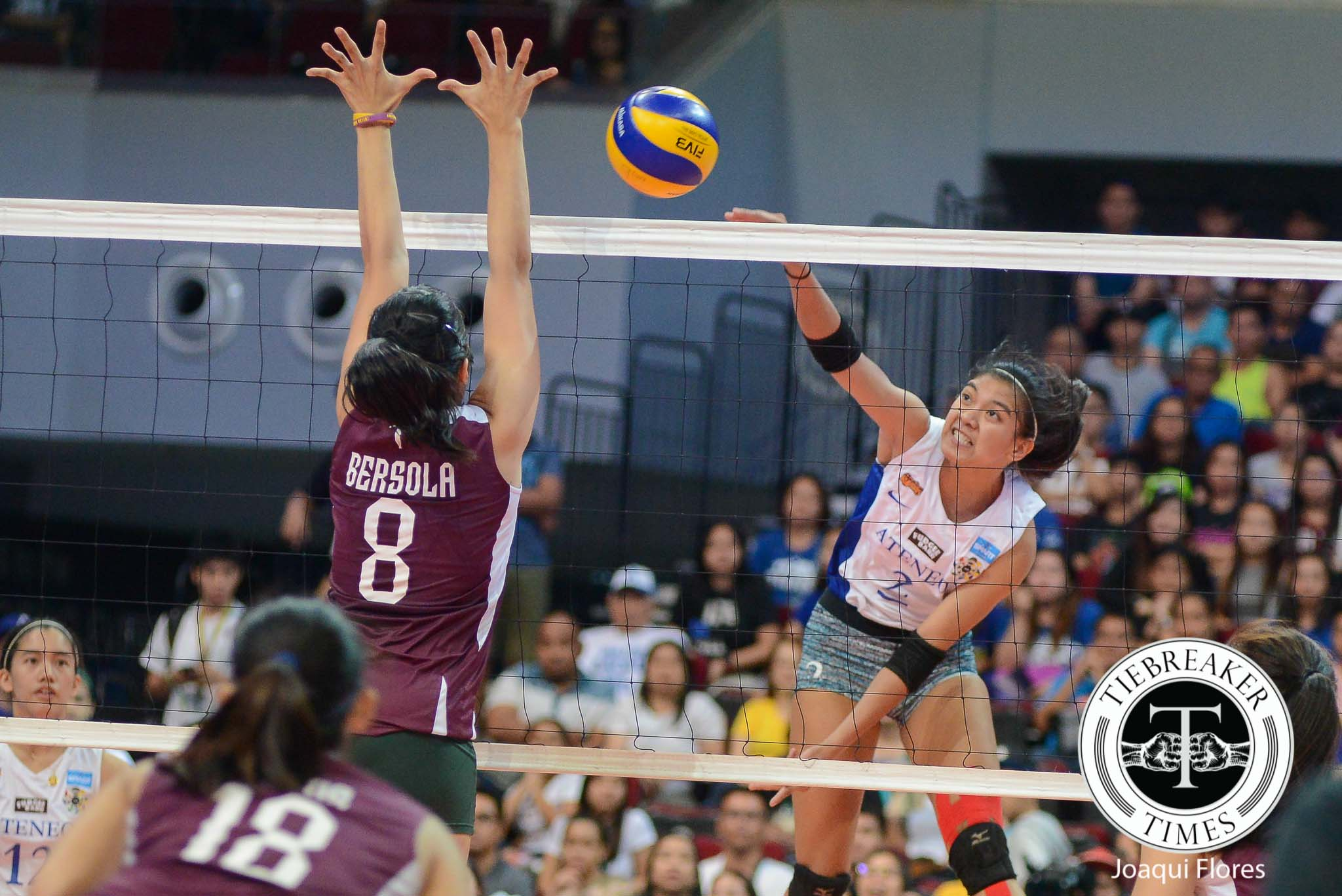 Tiebreaker Times Five for Five: Ateneo barges into Finals after sweeping UP ADMU News UAAP UP Volleyball  UP Women's Volleyball UAAP Season 78 Women's Volleyball UAAP Season 78 Nicole Tiamzon Kathy Bersola Jho Maraguinot Jerry Yee Isa Molde Ateneo Women's Volleyball Amy Ahomiro. Tai Bundit Alyssa Valdez
