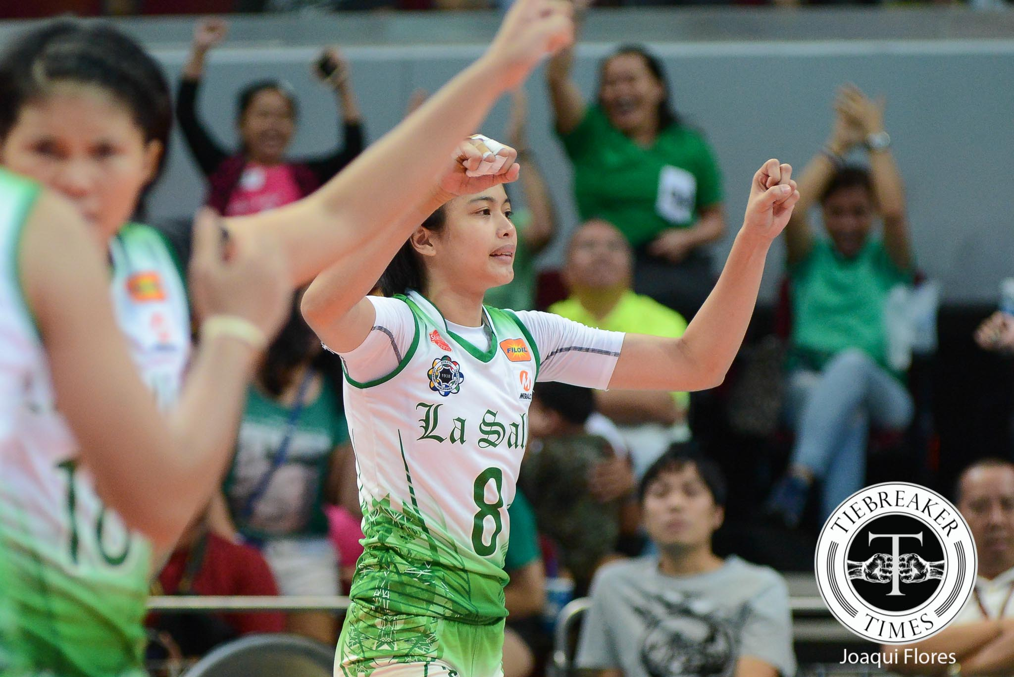 Tiebreaker Times Galang joins Morado's cause, auctions La Salle jersey for COVID-19 frontliners DLSU News UAAP Volleyball  Jia Morado Coronavirus Pandemic Ara Galang