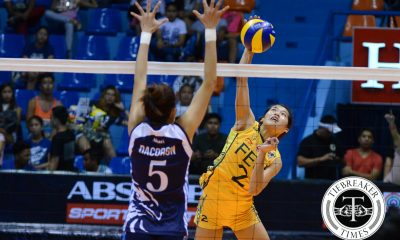 Tiebreaker Times FEU earns Final Four in wild finish against Adamson AdU FEU News UAAP Volleyball  UAAP Season 78 Women's Volleyball UAAP Season 78 Shaq delos Santos Remy Palma Mylene Paat Jerrili Malabanan Jema Galanza FEU Women's Volleyball Domeng custodio Bernadette Flora Bernadeth Pons AdU Women's Volleyball