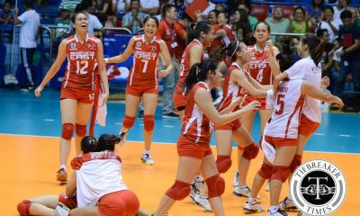 Tiebreaker Times Long time coming: UE ends embarrassing 58 game losing streak at Adamson's expense AdU News UAAP UE Volleyball  UE Women's Volleyball UAAP Season 78 Women's Volleyball UAAP Season 78 Shaya Adorador Roselle Baliton Keith Lebumfacil Kathleen Arado Judith Abil Jema Galanza Francis Vicente Erika Alkuino Domeng custodio Bernadette Flora AdU Women's Volleyball