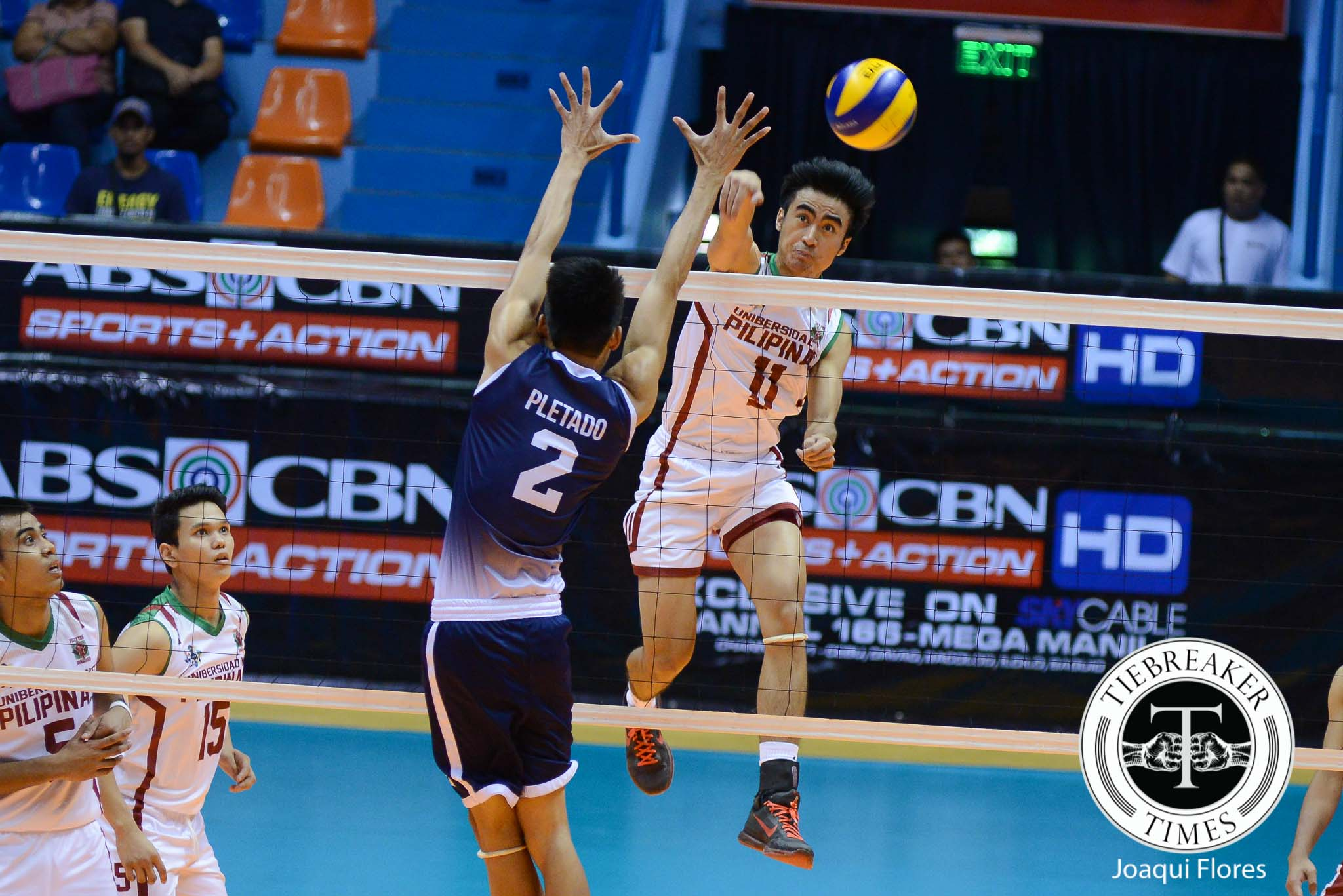 Tiebreaker Times Maroons climb back to Final Four, block Falcons AdU News UAAP UP Volleyball  Wendel Miguel UP Men's Volleyball UAAP Season 78 Men's Volleyball UAAP Season 78 Rodrigo Palmero Mike Sudaria Mac Millete Jerome Sarmiento Domeng custodio Dave PLetado Alfred Valbuena AdU Men's Volleyball