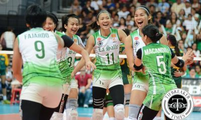 Tiebreaker Times Expect happier, looser Lady Spikers in rubber match DLSU News UAAP Volleyball  UAAP Season 78 Women's Volleyball UAAP Season 78 Ramil De Jesus Mika Reyes Kim Dy DLSU Women's Volleyball Cyd Demecillo