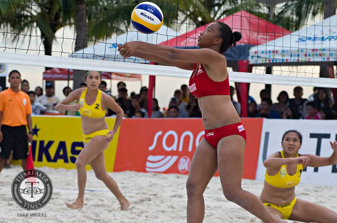 Tiebreaker Times PSL Challenge Cup favorites Diaz, Soriano taking it one step at a time Beach Volleyball News PSL  Standard Insurance - Navy Pau Soriano Norie Jane Diaz 2016 PSL Season 2016 PSL Beach Volleyball Challenge Cup