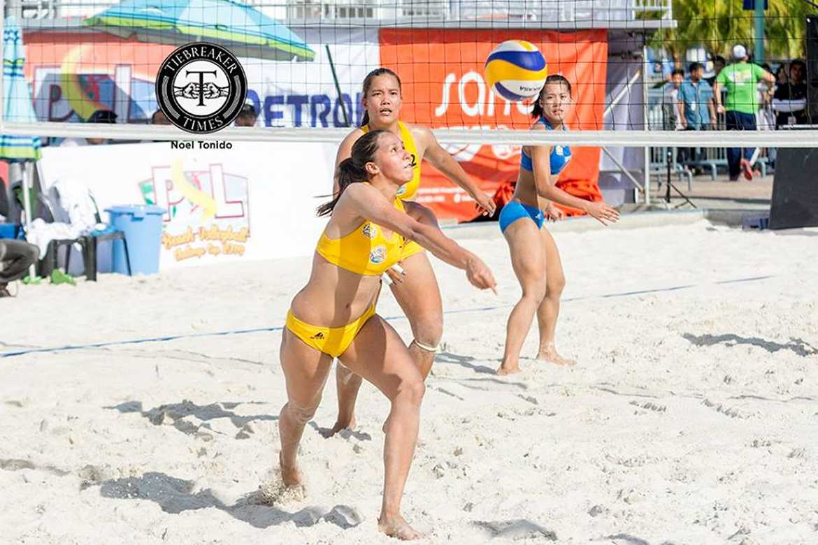 Tiebreaker Times Petron XCS, RC Cola-Army A look to intensify title bids; Men's competition commences Beach Volleyball News PSL  RC Cola Army Lady Troopers Petron XCS Nene Bautista Jovelyn Gonzaga Bang Pineda Aiza Maizo-Pontillas 2016 PSL Season 2016 PSL Beach Volleyball Challenge Cup