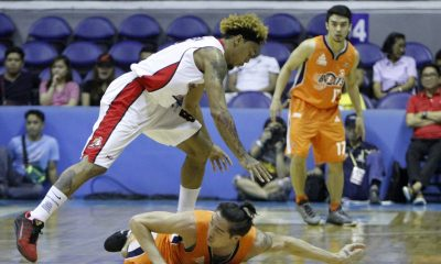 Tiebreaker Times Alaska eliminates Meralco in deciding Game 5; sets up date with Rain or Shine in finale Basketball News PBA  Rob Dozier PBA Season 41 Norman Black Meralco Bolts Dilling Chris Banchero Calvin Abueva Baser Amer Arinze Onuaku Alex Compton Alaska Aces 2016 PBA Commissioners Cup
