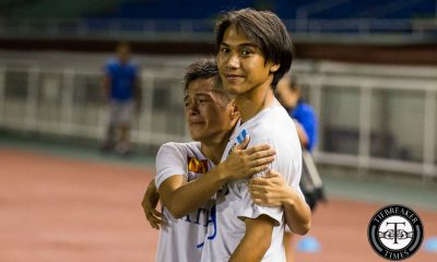 Tiebreaker Times Liay shrugs off frustration by focusing on positives for the Blue Eagles ADMU Football News UAAP  UAAP Season 78 Men's Football Team UAAP Season 78 Carlo Liay Ateneo Men's Football Team