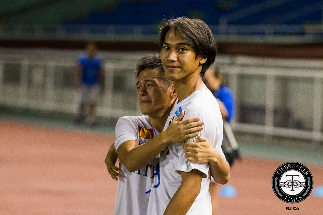 Philippine Sports News - Tiebreaker Times Liay shrugs off frustration by focusing on positives for the Blue Eagles ADMU Football News UAAP  UAAP Season 78 Men's Football Team UAAP Season 78 Carlo Liay Ateneo Men's Football Team