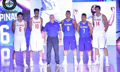 Tiebreaker Times PHOTOS: Nike unveils Gilas Pilipinas uniform for Manila OQT 2016 Manila OQT Basketball Gilas Pilipinas News Philippines  Tab Baldwin Nike Jordan Clarkson Jeff Chan Jayson Castro Japeth Aguilar Gabe Norwood Calvin Abueva 2016 Basketball Olympic Qualifying Tournament