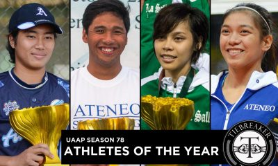 Tiebreaker Times Olympian Lariba heads UAAP 78 Athletes of the Year ADMU AdU DLSU News Softball Swimming Table Tennis UAAP Volleyball  UAAP Season 78 Women's Volleyball UAAP Season 78 Women's Table Tennis UAAP Season 78 Softball UAAP Season 78 Men's Swimming UAAP Season 78 Athlete of the Year UAAP Season 78 Queeny Sabobo Jessie Lacuna Ian Lariba DLSU Women's Table Tennis Ateneo Women's Volleyball Ateneo FAST Alyssa Valdez Adamson Softball