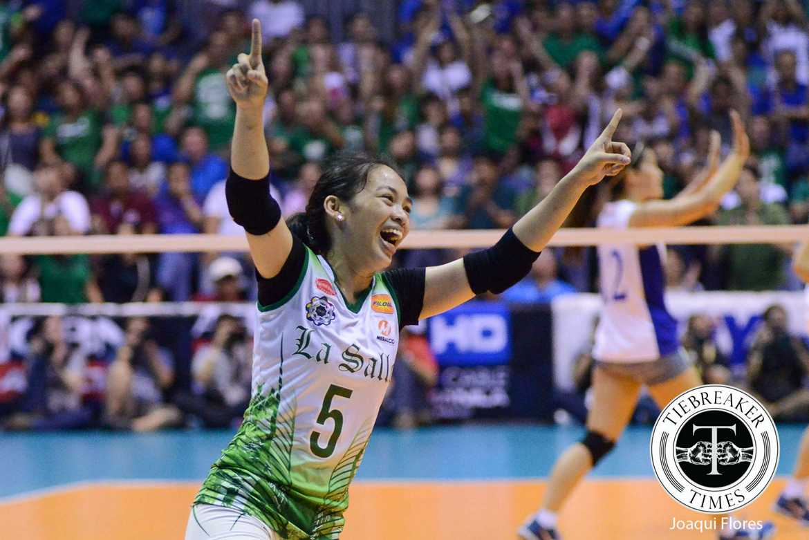 Philippine Sports News - Tiebreaker Times The Rise of Dawn Macandili DLSU News UAAP Volleyball  UAAP Season 78 Women's Volleyball UAAP Season 78 Ramil De Jesus Melissa Gohing DLSU Women's Volleyball Dawn Macandili Benson Bocboc