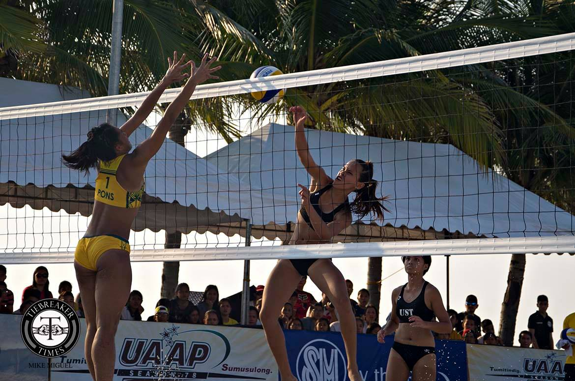 Tiebreaker Times Pons, Rondina making the most out of PSL Beach Volleyball exposure Beach Volleyball FEU News PSL UST  Foton Toplander FEU Women's Volleyball Cherry Rondina Bernadeth Pons 2016 PSL Season 2016 PSL Beach Volleyball Challenge Cup