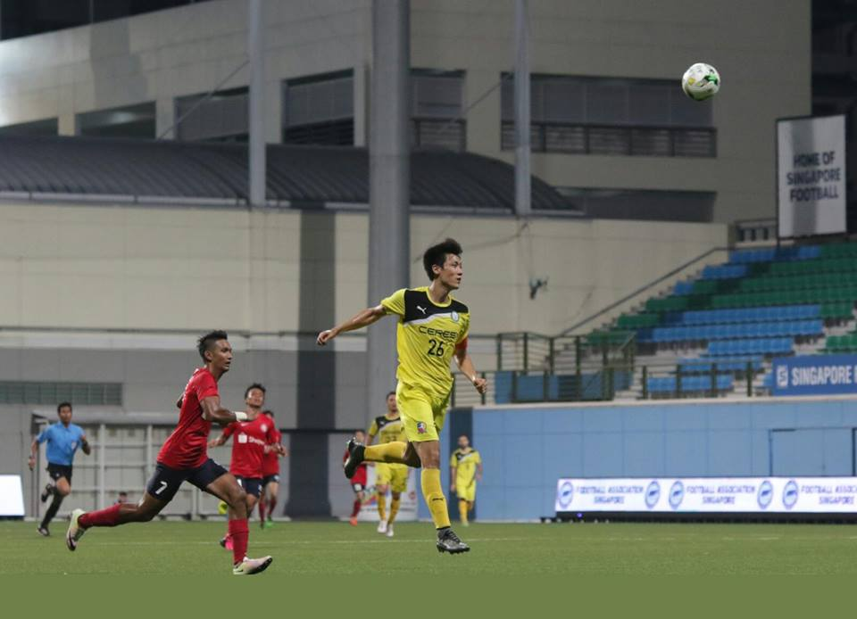 Tiebreaker Times Ceres-La Salle overcomes Young Lions in extra time Singapore Cup triumph Football News  Stephan Schrock Paul Mulders Martin Steuble Manny Ott Louie Casas Kim Sang Min Ceres-La Salle FC 2016 Singapore Cup