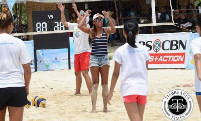 Tiebreaker Times Charo Soriano returns for El Nido-leg of BVR Beach Volleyball BVR News  Perlas Lady Spikers Charo Soriano 2018 BVR Season