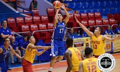 Tiebreaker Times Mendoza heats up late in Ateneo's QF clinching win over Mapua ADMU Basketball MIT News  Thirdy Ravena Sandy Arespacochaga Mapua Seniors Basketball Jolo Mendoza CJ Isit Atoy Co Ateneo Men's Basketball Andrew Estrella Allwell Oraeme Aaron Black 2016 Filoil Flying V Premier Cup