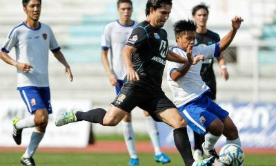 Tiebreaker Times Tough love: Loyola Meralco whitewash 'sister team' Agila MSA Football News UFL  Simon McMenemy Phil Younghusband MSA Agila FC Loyola Meralco Sparks Jinggoy Valmayor James Younghusband Daniel Gadia Akira Miyayama 2016 UFL Season 2016 UFL League