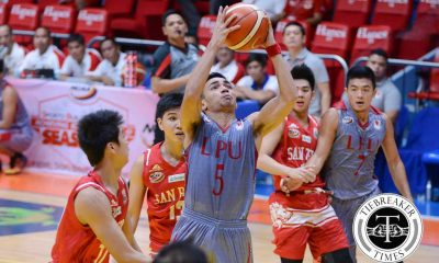 Tiebreaker Times Alban leading Lyceum surge, hailed as Player of the Week Basketball LPU NCAA News  NCAA Season 92 Seniors Basketball NCAA Season 92 NCAA Player of the Week Lyceum Seniors Basketball Davon Potts Adrian Alban