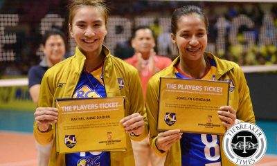 Tiebreaker Times Daquis, Gonzaga named to 'Magnificent 7' News PSL Volleyball  RC Cola Army Lady Troopers Rachel Anne Daquis Jovelyn Gonzaga 2016 PSL Season 2016 PSL All Filipino Conference 2016 FIVB Club World Championship
