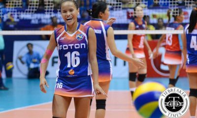 Tiebreaker Times Rondina sprains ankle in match against F2 Logistics News PSL Volleyball  Foton Tornadoes Cherry Rondina 2016 PSL Season 2016 PSL All Filipino Conference