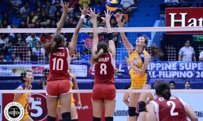 Tiebreaker Times Veteran-laden RC Cola sweeps Cignal News PSL Volleyball  Tin Agno Sarah Gonzales Sammy Acaylar RC Cola Army Lady Troopers Rachel Anne Daquis Mela Tunay Kungfu Reyes Jovelyn Gonzaga Jheck Dionela Jeanette Panaga Djanel Cheng Cignal HD Spikers 2016 PSL All Filipino Conference
