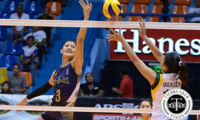 Tiebreaker Times Santiago scores 18 in 2 sets as NU blasts Baguio News NU PVL Volleyball  Roger Gorayeb NU Women's Volleyball Marry Ann Atuban Joni Chavez Jhiesel Agudia Jasmin Nabor Jaja Santiago Ciello Abella Cherry Atuban Baguio Summer Spikers Aiko Urdas 2016 SVL Season 2016 SVL Open Conference