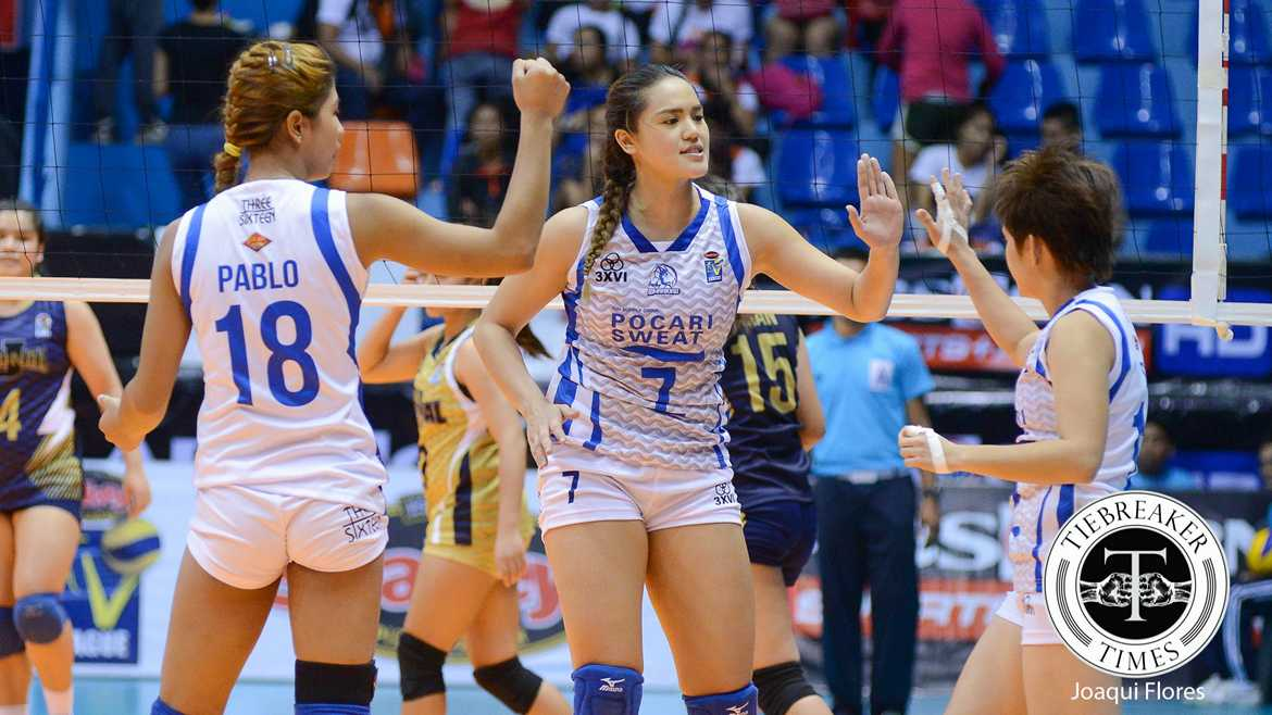 Tiebreaker Times Career game signals Gumabao's renaissance News PVL Volleyball  Pocari Sweat Lady Warriors Michele Gumabao 2016 SVL Season 2016 SVL Open Conference