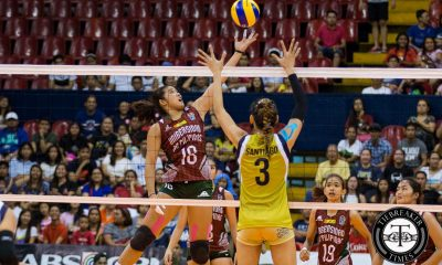 Tiebreaker Times Carlos compiles career game in the middle position News PVL UP Volleyball  UP Lady Maroons Diana Carlos 2016 Shakey's V-League Open Conference