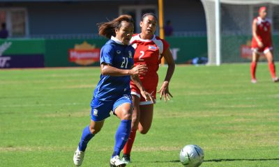 Tiebreaker Times Philippines suffer heavy defeat against Thailand in AFF Women's Championship curtain-raiser News Philippine Malditas  Thailand Women's National Football Team Pitsamai Sornsai Philippine Women's National Football Team Kanjana Sungngoen Inna Palacios Heather Cooke Cristina Delos Reyes Alesa Dolino 2016 AFF Women's Championships