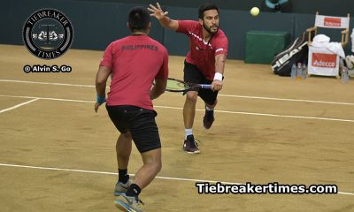Tiebreaker Times Huey, Gonzales pull Philippines back with Davis Cup Day 2 win Davis Cup News Tennis  Treat Huey Ruben Gonzales Karl Santamaria 2016 Davis Cup Group II Asia-Oceania 2016 Davis Cup