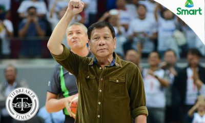 Tiebreaker Times President Duterte makes ceremonial toss to Gilas-Les Bleus tilt 2016 Manila OQT Basketball France News Philippines  Tony Parker Rodrigo Duterte 2016 Basketball Olympic Qualifying Tournament