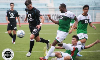 Tiebreaker Times Loyola lock down Pasargad to remain on top Football News UFL  Phil Younghusband Pasargad FC Loyola Meralco Sparks FC Loyola Meralco Sparks Jinggoy Valmayor Curt Dizon 2016 UFL League