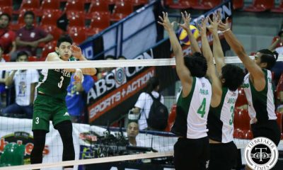 Tiebreaker Times La Salle triumphant in Pamilar's coaching debut CSB DLSU News Volleyball  Raymark Woo Philip Bagalay Nes Pamilar Mike Frey Jopet Movido John Vic De Guzman Geuel Asia DLSU Green Spikers Benilde Men's Volleyball Arnold Laniog Arjay Onia 2016 Spikers Turf Season 2016 Spikers Turf Collegiate Conference