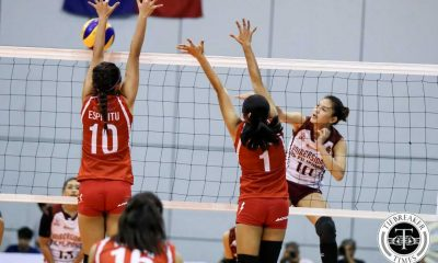 Tiebreaker Times Lady Maroons tame Lady Red Spikers to open campaign News PVL SBC UP Volleyball  UP Women's Volleyball San Beda Women's Volleyball Nieza Viray Nemesio Gavino Mae Basarte Kathy Bersola Jerry Yee Isa Molde Francesca Racraquin 2016 SVL Season 2016 SVL Collegiate Conference