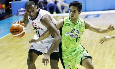 Tiebreaker Times Mahindra cruises late to clinch 2-0 start over GlobalPort News PBA  Stanley Pringle Mahindra Enforcers LA Revilla Karl Dehasa John Cardel James White Globalport Batang Pier Dominique Sutton Chris Gavina Aldrech Ramos 2016 PBA Commissioners Cup