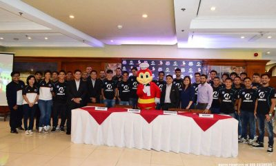 Tiebreaker Times Meralco Sparks sign sponsorship deal with fast food giant Jollibee Football News  Loyola Meralco Sparks Jollibee