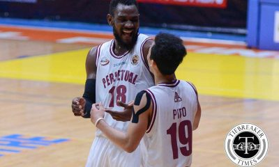 Tiebreaker Times Player of the Week Akhuetie powers Perpetual into contention Basketball NCAA News UPHSD  Rey Nambatac Perpetual Seniors Basketball NCAA Season 92 Seniors Basketball NCAA Season 92 NCAA Player of the Week Davon Potts Bright Akhuetie